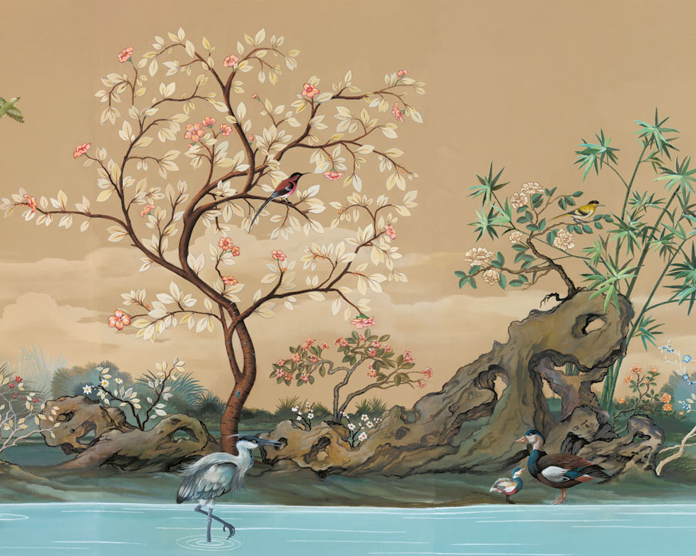 chinoiserie mural wallpaper